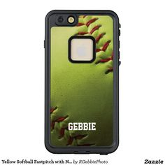 Yellow Softball Fastpitch with Name Text LifeProof® FRĒ® iPhone 6/6s Plus Case $133.00 Personalize your life! Yellow softball, natural shadows. Whether a player, coach, or just someone who likes yellow, this case if for you! See more of our Softball Fastpitch designs available in our store!