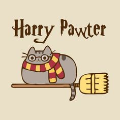 Awesome 'Harry Pawter - Pusheen' design on TeePublic! Awesome 'Harry Pawter - Pusheen' design on Tee Harry Potter Tumblr, Harry Potter Anime, Pusheen Harry Potter, Harry Potter Kunst, Memes Do Harry Potter, Arte Do Harry Potter, Cute Harry Potter, Harry Potter Pictures, Harry Potter Fandom