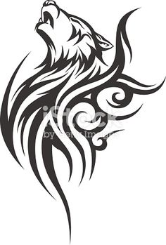 Vector illustration without transparency. Tattoos And Body Art tribal tattoo designs Tribal Tattoo Designs, Tribal Animal Tattoos, Tribal Drawings, Tribal Animals, Wolf Tattoo Design, Wolf Design, Tattoo Wolf, Wolf Tattoo Tribal, Tribal Tattoos For Men