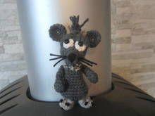 Häkelanleitung für den Mini Manni, kleine Ratte, als Taschenbaumler, ca. 10 cm