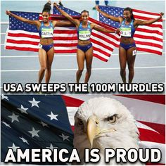 Olympic history Aug 17, 2016 US women sweep the 100M hurdles!
