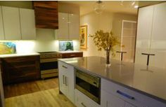 New modern kitchen at home in North Asheville designed and built by Roost, Inc.