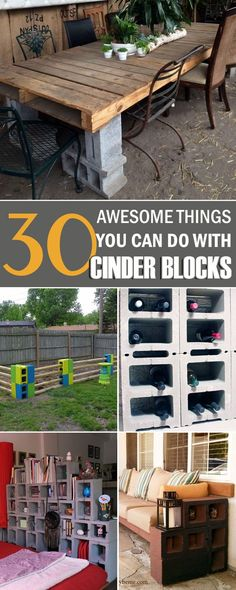 cinderblock furniture. 30 awesome things you can do withu2026 cinder blocks cinderblock furniture