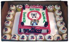 WWE Wrestling cake with John Cena