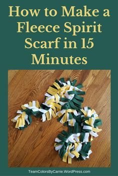 How to Make a Fleece Spirit Scarf in 15 Minutes – Team Colors By Carrie Cheerleading Spirit Gifts, Cheerleading Crafts, Cheer Gifts, Team Gifts, Cheer Mom, Coach Gifts, Cheerleader Gift, Youth Cheer, Cheer Stuff
