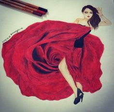 Colored Drawing by MARYAM93ES (on Instagram) #art