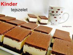 Kakukkfű: Kinder tejszelet (diabetikus) Something Sweet, Cake Cookies, Tiramisu, Latte, Paleo, Healthy Recipes, Healthy Food, Sweets, Ethnic Recipes