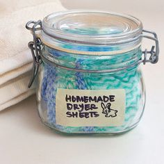 Homemade Dryer Sheets: Not only are these dryer sheets eco-friendly, but they're also reusable, making them a must have for your laundry room.