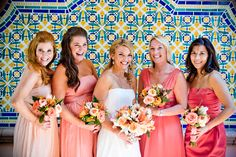 Citrusy Californian Destination Wedding at La Valencia Hotel photographed by True Photography