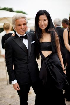 Giancarlo Giammetti and Vera Wang