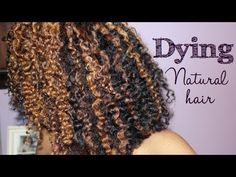 ▶ Dying Natural Hair Tutorial + My Results--love this for not dying all your hair. This pattern should work with chamomile tea lightening or cinnamon. You'd have to put plastic wrap on those parts though.