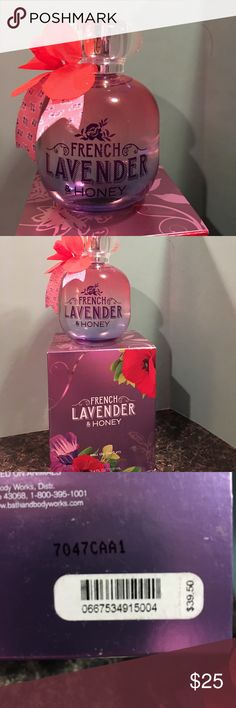 French Lavender & Honey eau de parfum New in box. Adorable bottle!!  Pairs wonderfully with body lotion also listed if you would like to layer your fragrance. Bath & Body Works Other