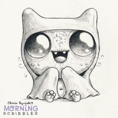 This one is about my girlfriend: Always cold. Always under a blanket.  #morningscribbles by chrisryniak