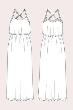 Women maxi dress 2020 Delphi Layered Maxi Dress – Named Maxi Dress With Sleeves, Dress Skirt, Dress Name, Illustration Mode, Evening Dresses For Weddings, Fashion Design Sketches, Fashion Dresses, Maxi Dresses, Creations