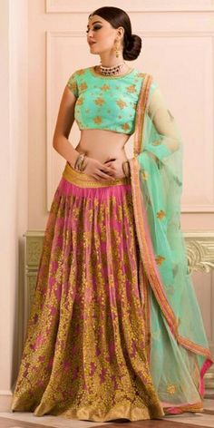 Beautiful Pink Soft Net Lehenga Choli With Dupatta.
