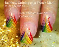 """Robin Moses Nail Art: """"water drop nails"""" """"nail art"""" """"black matte nails"""" """"rainbow nails"""" """"eye nails"""" """"rainbow nail art"""" """"teardrop nails"""" tears tear drops nail art with rainbows and tears robin moses :D"""
