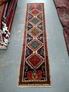 1990s Hand-Knotted Ardabil Persian Rug Runner (3508) by carpetshopprincess on Etsy