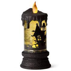 Raz - Halloween Battery Operated Candle Yellow