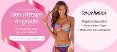 Das Angebot der  Woche zu 60 Jahren Schwab ist diese Woche der Bügel Bandeau Bikini. #BuegelBandeauBikini #Bikini #BrunoBanani