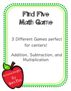 Tape diagram array number bond multiplication model worksheets 3 different games perfect for centers these games can be used in first second and even third grade they are perfect for practicing fluency during math ccuart Gallery