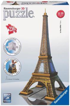 Eiffel Tower - 216 Piece 3D Jigsaw Puzzle