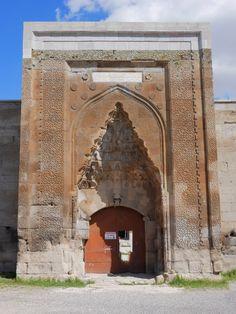 Entrance to the Agzikarahan-Hoca Mesut Caravanserai (Built 1231-1239). Cappadocia, Turkey