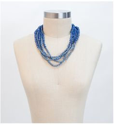 31Bits Windsor necklace, Beautiful light blur color! $42 #fashionforgood