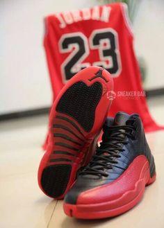 cafccd6c77e8 Black Red Air Jordan Retro 12