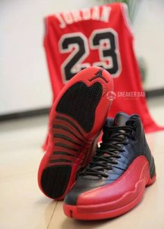 """Black Red Air Jordan Retro 12 """"Flu Game"""""""