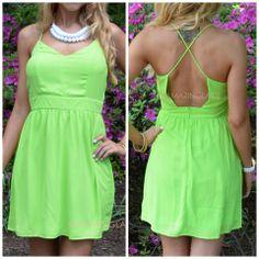 Zinnia Green Cross Back Dress | Amazing Lace