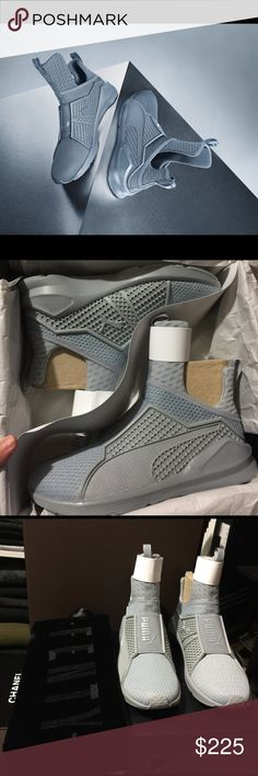 GREY PUMA FENTY WITH BOX AND DUST BAG Never worn. Size WOMENS 7. Paid $180 for this pair so price firm Puma Shoes Sneakers