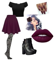 """""""Punk pinup"""" by jazzydyelove on Polyvore featuring Emilio Cavallini, Collectif and Lime Crime"""