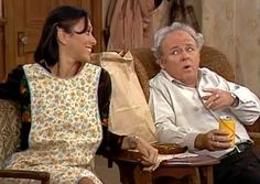 Miss Patty (Liz Torres) appeared in several episodes of the popular sitcom All in the Family. Babette (Sally Struthers) also starred in this show on a regular basis. Gilmore Girls Soundtrack, Sally Struthers, Carroll O'connor, Archie Bunker, 70s Tv Shows, All In The Family, Family Memories, Classic Tv, Looking Back