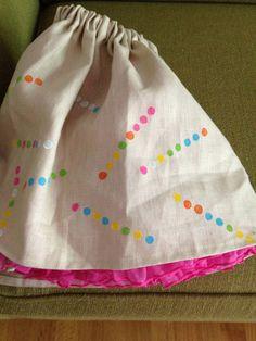 Freezer paper pattern skirt