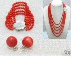 >> Click to Buy << Charming Beautiful 6mm Red Coral Beads Necklace Bracelet Earring Fashion Free shipping #Affiliate
