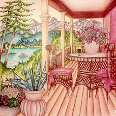 Debbie McComber's Come Home To Color - Porch of Rose Harbor