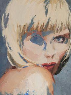 She. 48 x 36 inches, oil on acrylic on canvas,  2012. Geoffrey Stein