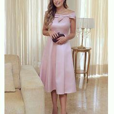 {Lady like @_fsstore 💗} Vestido midi bem #princess do jeito que eu amo!