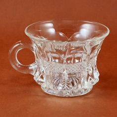 Antique Banded Portland Punch Custard Cup Virginia by charmings