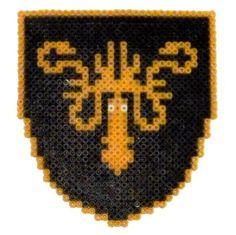 Game of Thrones: Greyjoy shield perler beads by Garrosa on deviantART