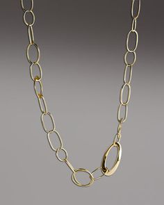 """Handcrafted Gold Link Necklace, 18""""L by Ippolita at Neiman Marcus - another gorgeous piece."""