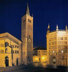il Duomo di Parma, il Seminario Maggiore e il battistero... il simbolo della vita cristiana.