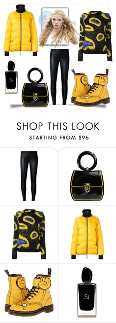 """""""Yellow"""" by amaiba ❤ liked on Polyvore featuring MICHAEL Michael Kors, Moschino, Marco de Vincenzo, Marni, Dr. Martens and Giorgio Armani"""