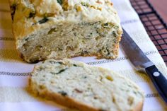 Caramelized Onion & Spinach Olive Oil Quick Bread from abicyclebuiltfor2.com