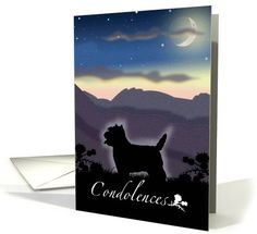 West Highland Terrier Dog Pet Sympathy Vintage Silhouette card by Rosemary Freeman