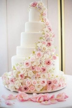 Pink Wedding Cakes Pretty Pink Rose Tiered Wedding Cake - One thing is certain is that wedding cake ideas are absolutely beautiful. From floral decorations, multiple layers to simply unique wedding cakes. Cool Wedding Cakes, Beautiful Wedding Cakes, Beautiful Cakes, Perfect Wedding, Dream Wedding, Large Wedding Cakes, Indian Wedding Cakes, Elegant Wedding Cakes, Wedding Cake Inspiration