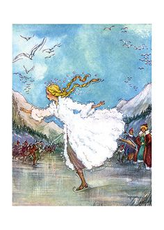 Skating on the Pond   Dynamic Women Art Prints