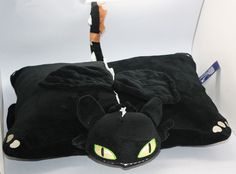 """NEW Rare NIGHT FURY TOOTHLESS PILLOW PET PLUSH 15"""" From How to Train Your Dragon"""