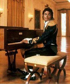 Michael playing piano