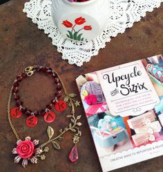 Valentine Jewelry alert! How To make a S.W.A.K. necklace from a  recycled/upcycled plastic lid!